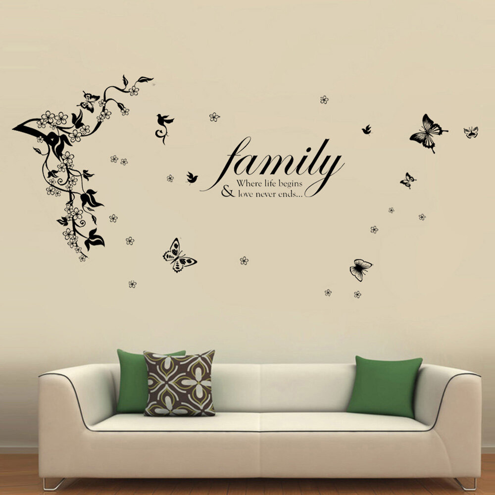 ebern designs butterflies vine and family quotes wall decal wayfair