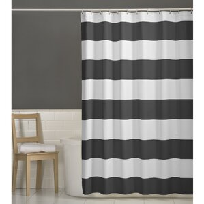 brown and gray shower curtain. Berwyn Fabric Shower Curtain  Gray Silver Curtains You ll Love Wayfair