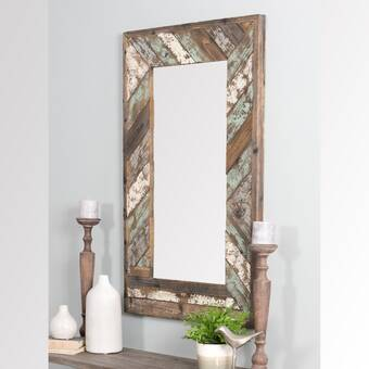 Millwood Pines Folkes Rustic Accent Mirror Wayfair