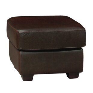 Buda Leather Ottoman by Williston Forge