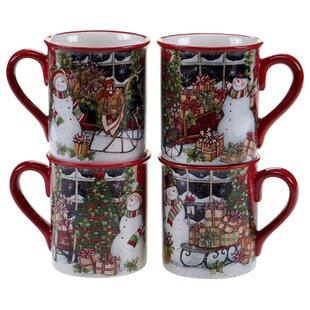4 Piece Coffee Mug Set
