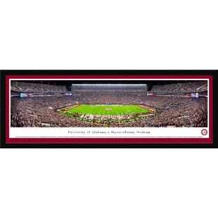 NCAA Alabama, University of - 50 Yd (Night) by James Blakeway Framed Photographic Print By Blakeway Worldwide Panoramas, Inc