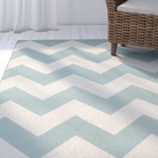 Palm Cove Blue/Beige Indoor/Outdoor Area Rug