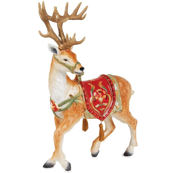 Fitz And Floyd Bellacara Deer Figurine Amp Reviews Wayfair