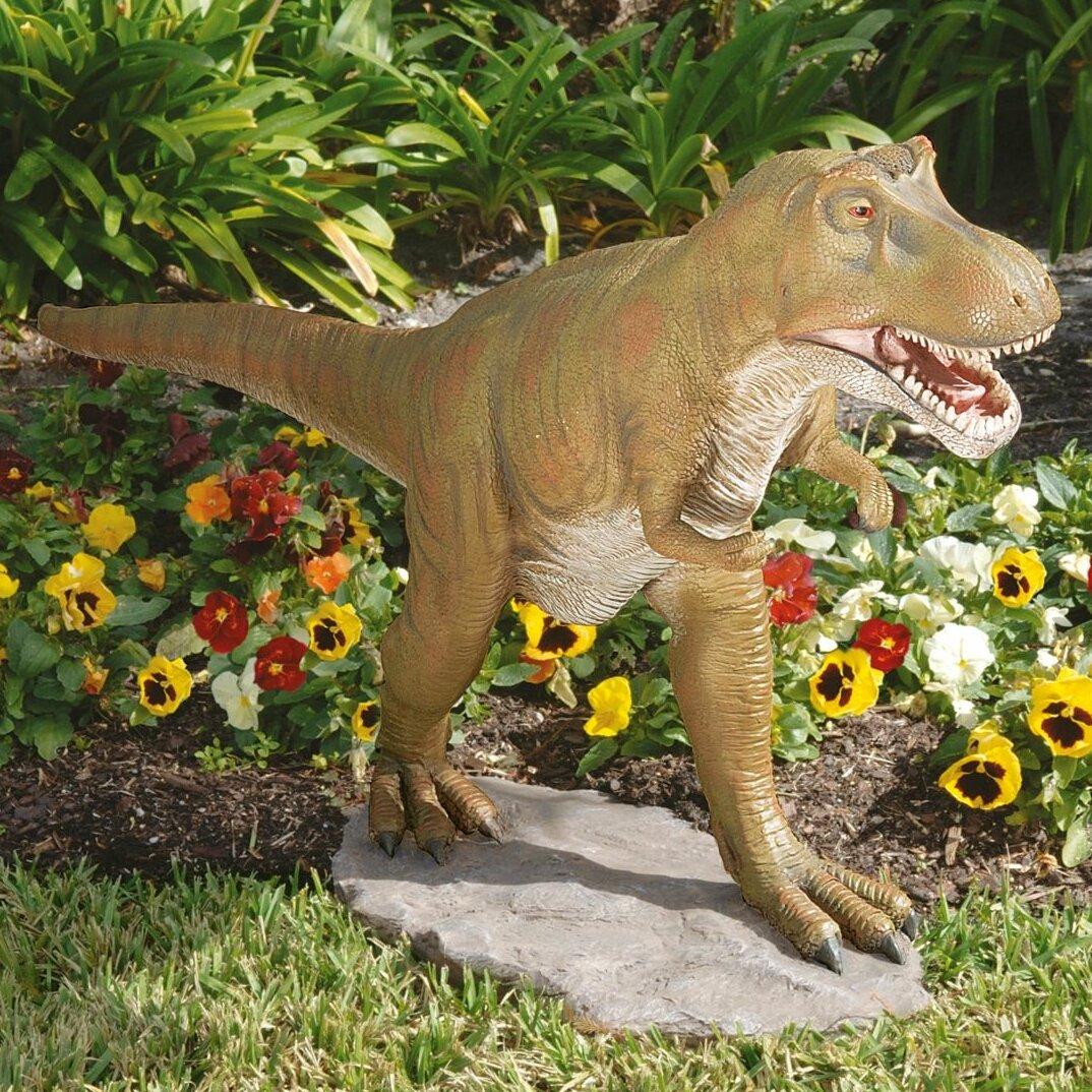 Design Toscano T-Rex Dinosaur Garden Statue   Wayfair