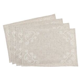 Arik Embroidered Swirl Blend Placemat (Set of 4)