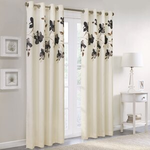 Simpson Nature/Floral Grommet Single Curtain Panel