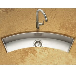 bathroom sink with 2 faucets. Contempo 33  X 11 5 Zero Radius Undermount Curved Trough Bar Sink With 2 Faucets Wayfair
