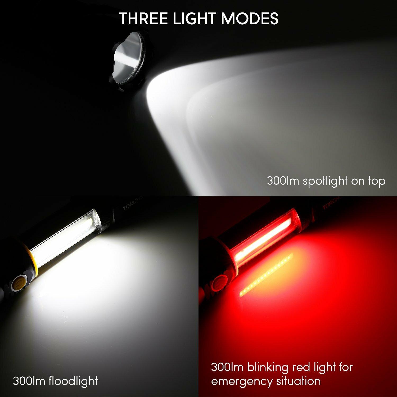 f6743d7c477 TORCHSTAR Battery Powered LED Work Flash Light