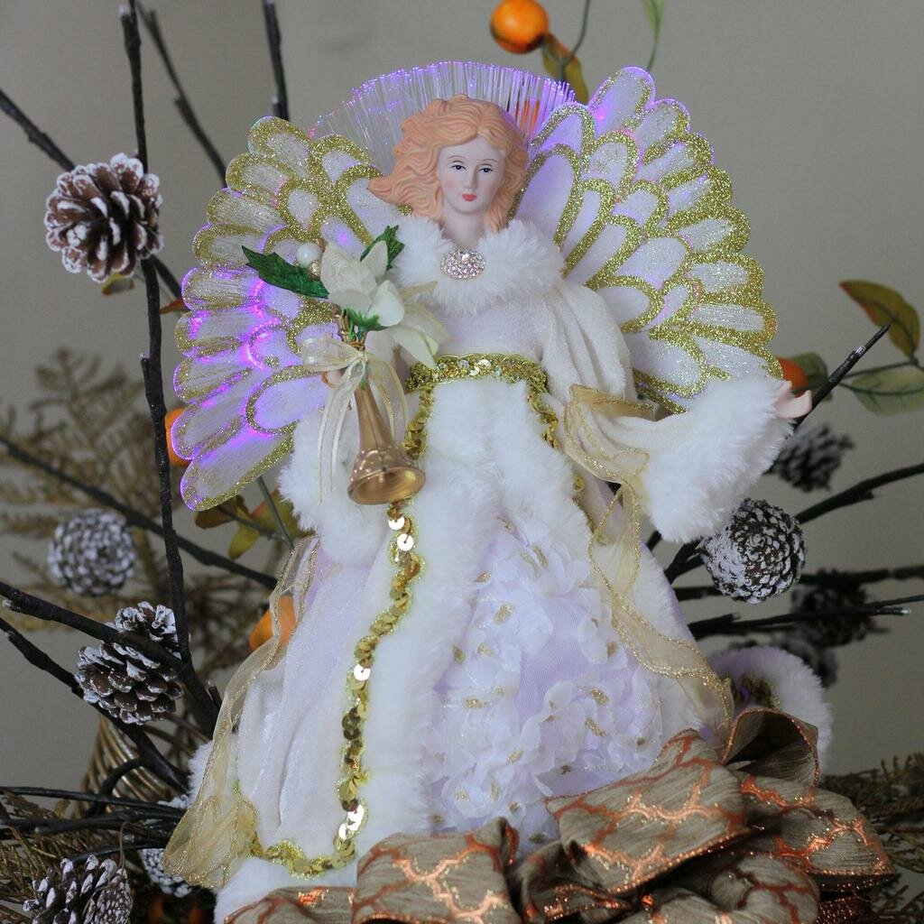 Northlight Lighted B O Fiber Optic Angel In Gown Christmas Tree Topper Reviews Wayfair
