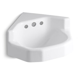 Purchase Marston Metal 23 Corner Bathroom Sink with Overflow By Kohler