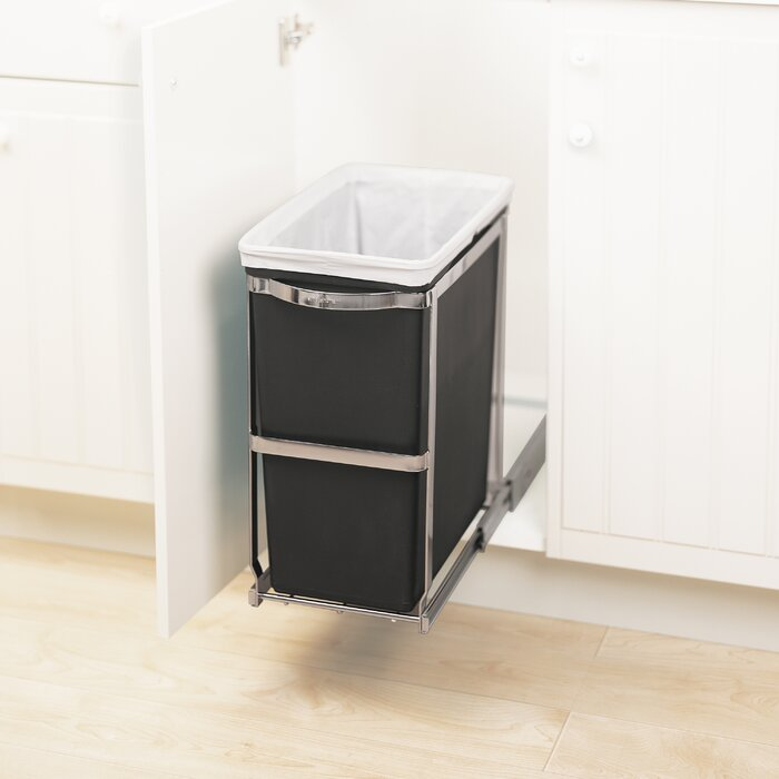Plastic 8 Gallon Pull Out/Under Counter Trash Can
