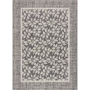 Key Haven Charcoal Indoor/Outdoor Area Rug