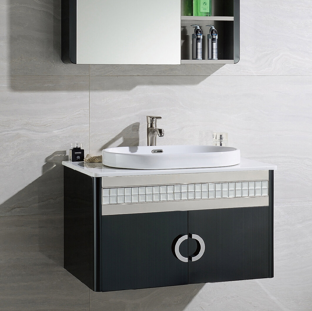 Orren Ellis Donatello 32 Wall Mounted Single Bathroom Vanity Set Wayfair