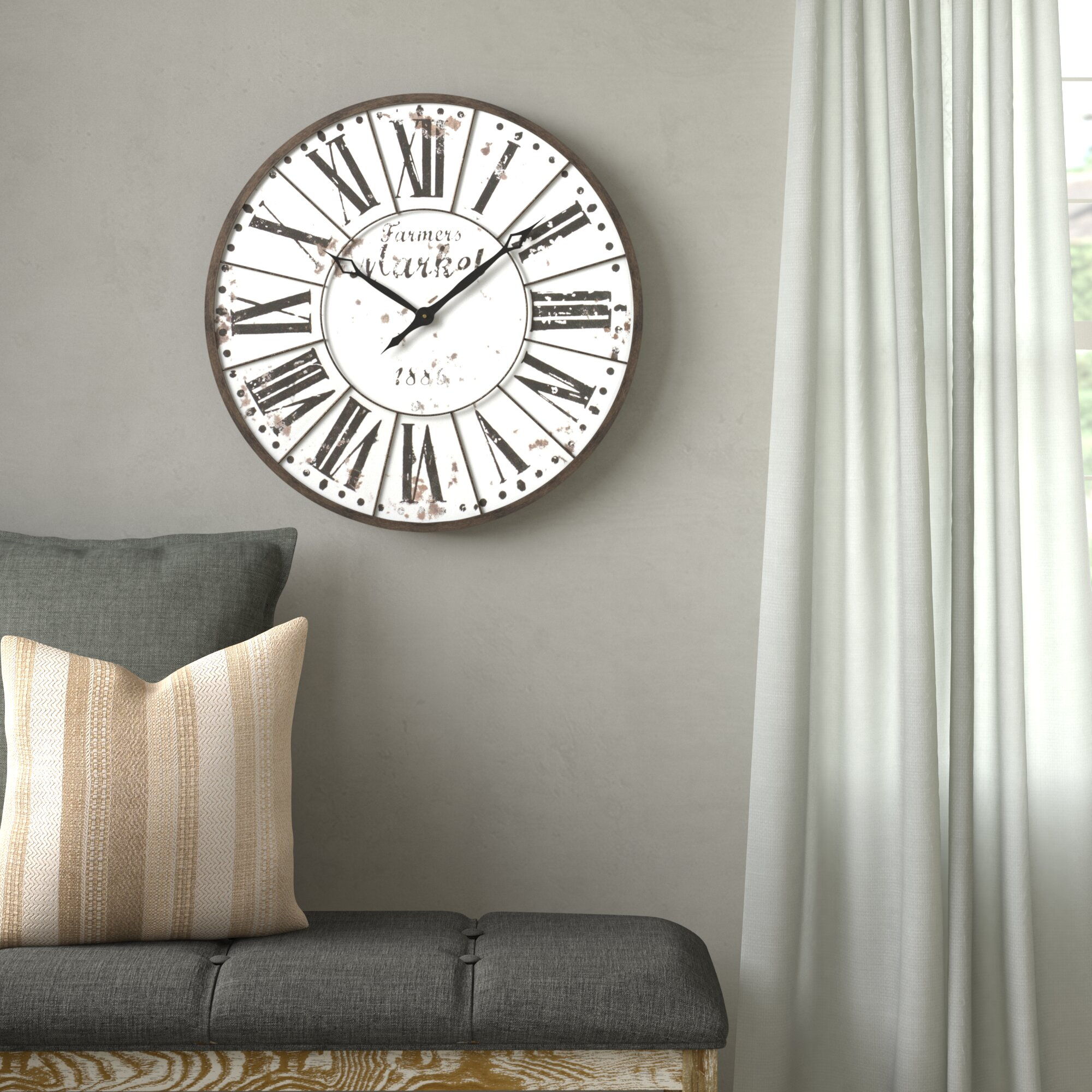 Oversized Zeppelin Farmhouse 24 Wall Clock