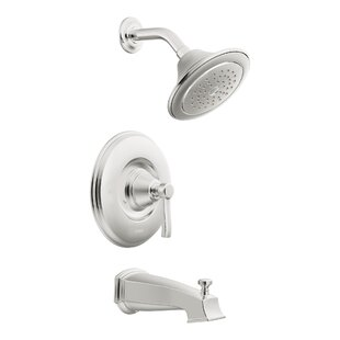 Rothbury Posi-Temp Pressure Balance Tub and Shower Faucet Trim with Lever Handle By Moen