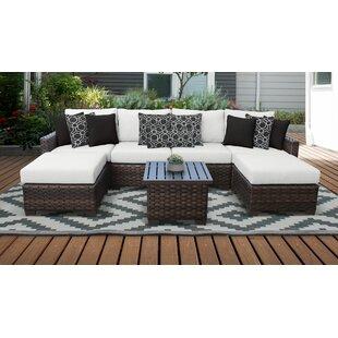 Superb River Brook 7 Piece Outdoor Wicker Patio Furniture Set 07A Cjindustries Chair Design For Home Cjindustriesco