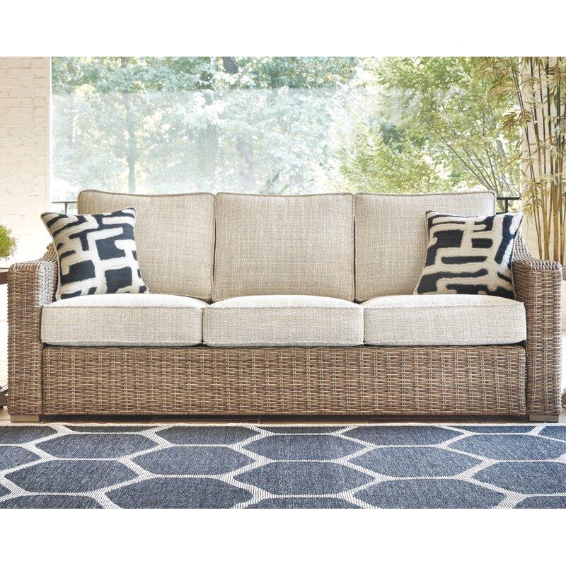 Greyleigh Farmersville Patio Sofa With Cushions & Reviews