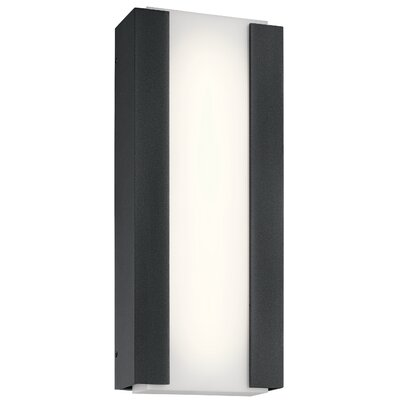 Brayden Studio Kemper LED Outdoor Sconce Size: 15'' H x 8.25'' W x 3 D