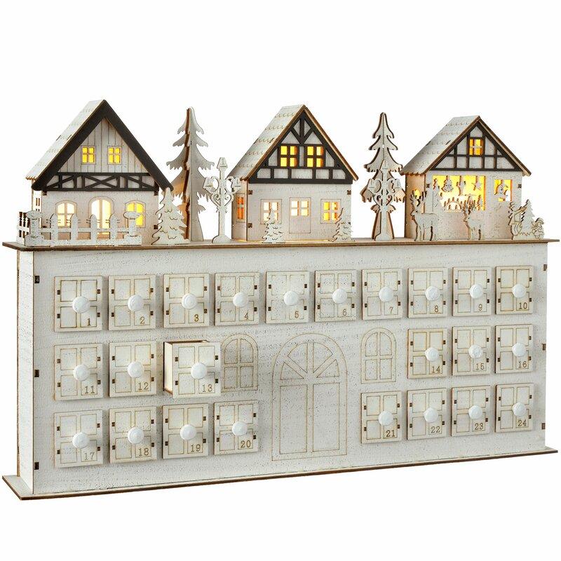 Living At Home Adventskalender the seasonal aisle pre lit wooden house advent