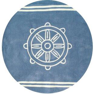 Reviews Kya Ship Wheel Hand-Tufted ByBreakwater Bay