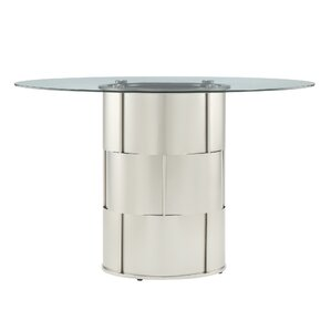Cliburn Drum Glass Dining Table by House ..