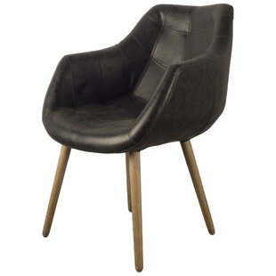 Dickerson Genuine Leather Upholstered Dining Chair