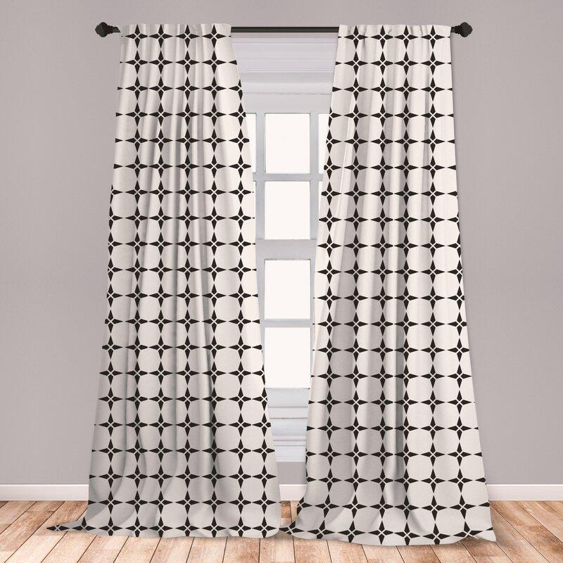 East Urban Home Evadale Geometric Room Darkening Rod Pocket Curtain Panels Wayfair