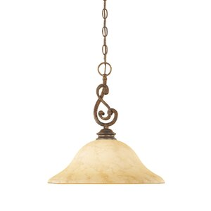 Mendocino 1-Light Bowl Pendant