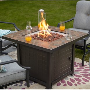 Steel Propane Fire Pit Table by Festival Depot Cool
