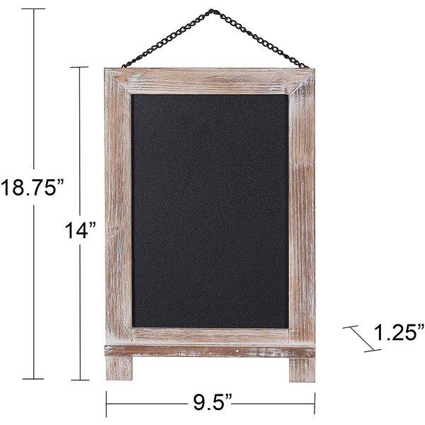 "Wall Mounted Reversible Chalkboard, 18.75"" x 9.5"""