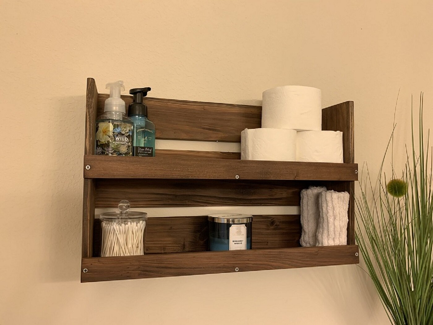 Union Rustic Federico 23 5 W X 15 H X 6 D Solid Wood Bathroom Shelves Reviews Wayfair