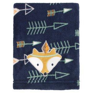 Aztec Print Coral Fleece Blanket