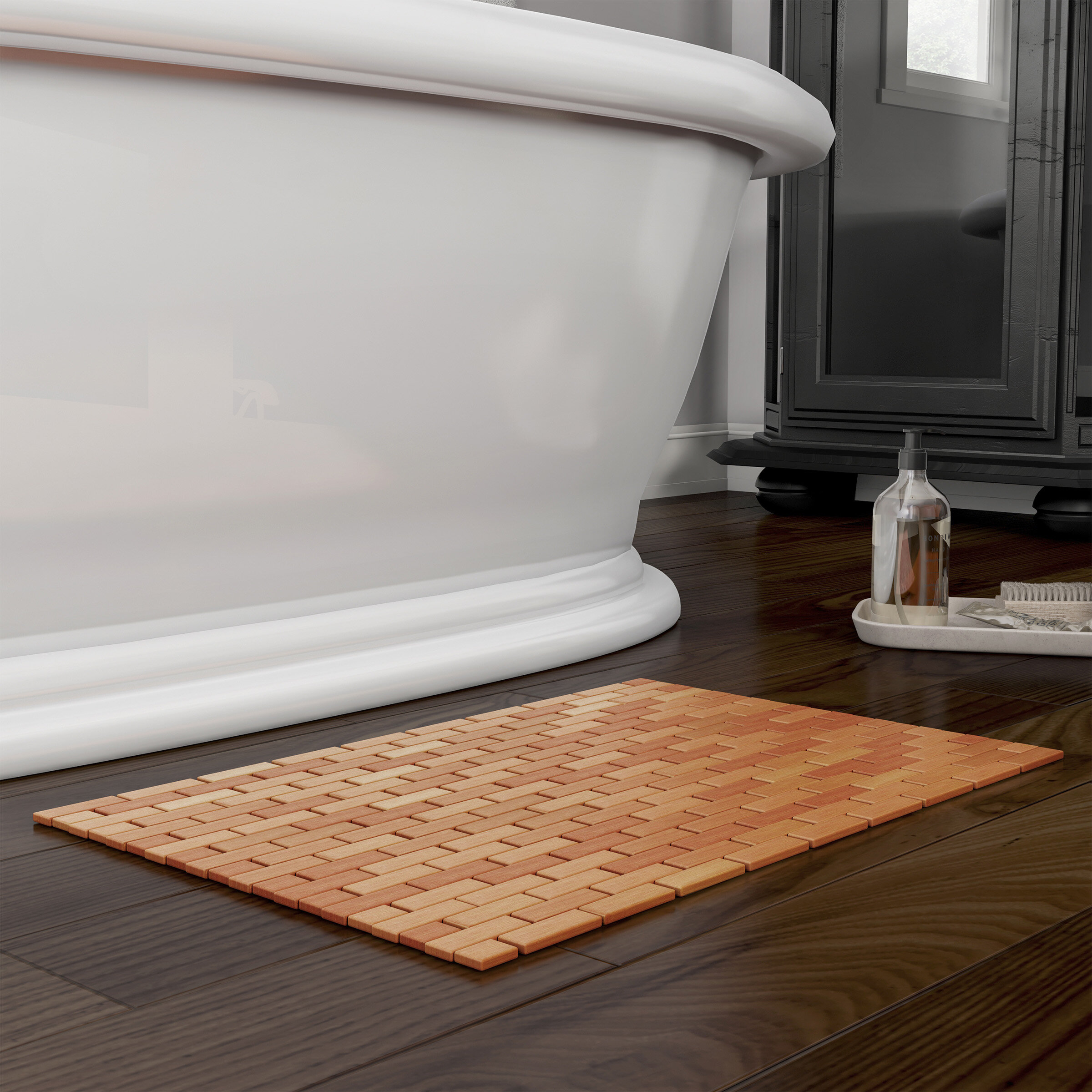 Bamboo Bath Mat Luxury Super Soft Natural Cotton Anti Bacterial Bathroom Mats