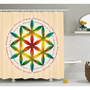 Symbol of Fundamental Aspect of Space and Time Esoteric New Spiral Print Shower Curtain Set