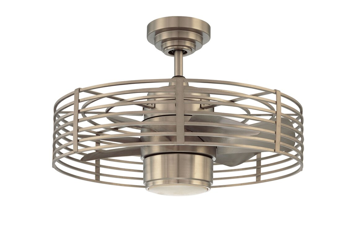 "Bathroom Lighting Glasgow trent austin design 23"" glasgow 7 blade ceiling fan with wall"