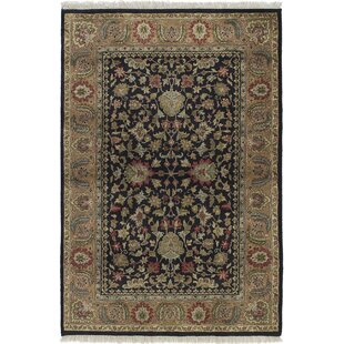 Bargain One-of-a-Kind Doney Hand-Knotted 4' x 6' Wool Brown/Black Area Rug By Isabelline