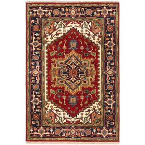 One-of-a-Kind Serapi Heritage Hand-Knotted Dark Copper Area Rug
