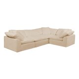 Caitlynne Slipcovered Reversible Modular Sectional with Ottoman by Latitude Run®