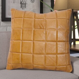 Loven Leather Square Pillow