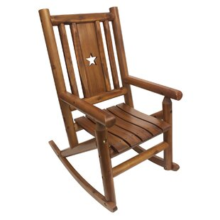 Amber-Log Star Single Porch Rocking Chair by Leigh Country 2019 Online