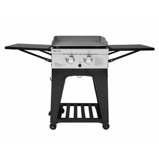 ee7bc6563dd 2-Burner Flat Top Propane Gas Grill with Side Table. by Royal Gourmet Corp
