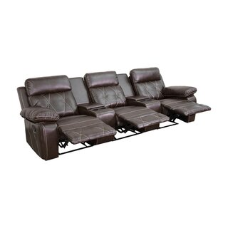 3-Seat Reclining Home Theater Loveseat by Winston Porter SKU:DA823348 Description