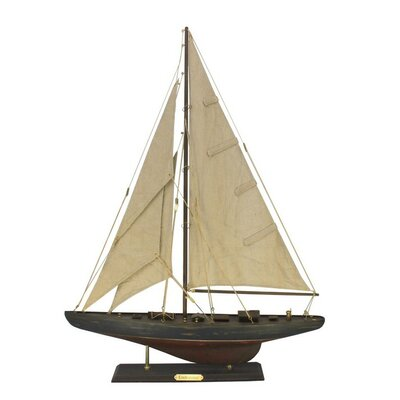 Endeavour Limited Model Yacht Handcrafted Nautical Decor