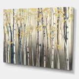 Golden Birch Forest I - Wrapped Canvas Painting