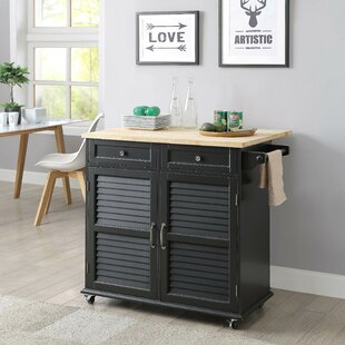 Ottery Kitchen Cart with Solid Wood