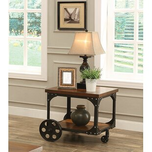 Percy Industrial Solid Wooden End Table