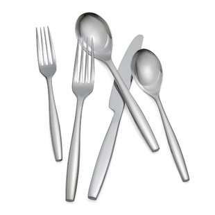 Aidan Setting 5-Piece 18/10 Stainless Steel Flatware Set, Service for 1