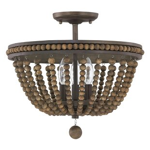 Roberto 3-Light Semi Flush Mount  sc 1 st  Joss u0026 Main & Bohemian Lighting | Joss u0026 Main