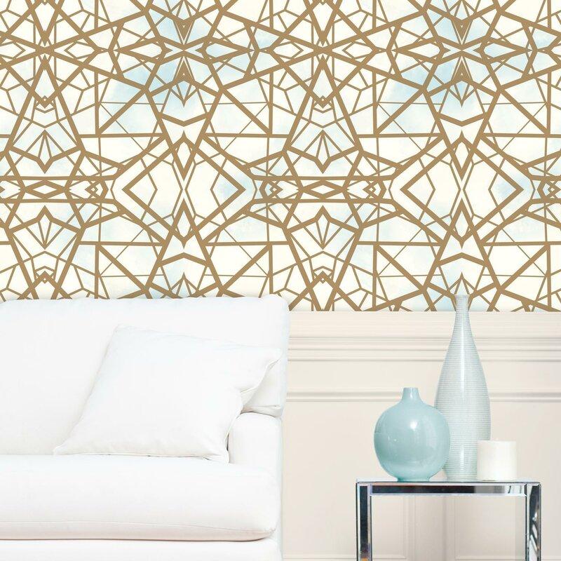 Rodas Shatter 16 5 L X 20 5 W Geometric Peel And Stick Wallpaper Roll Reviews Joss Main